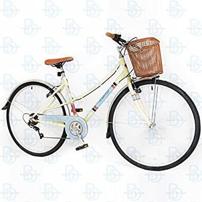 Universal Classic 700c Ladies City Bike - Cream and Blue - NEW RANGE