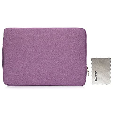 Camiter violett Denim Series Slim Laptop Schutzhülle Tasche Tragetasche Laptop Notebook Hülle Slip Case Tasche für Macbook Mac Air/Pro/Retina 15