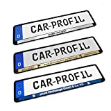 Car-Profil Kennzeichenhalter mit Lasergravur 8 Farben wählbar