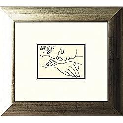 artissimo, Kunstdruck gerahmt, 35x39cm, AG3800, Pablo Picasso: Sleeping Woman, Bild, Wandbild, Poster, Wanddekoration