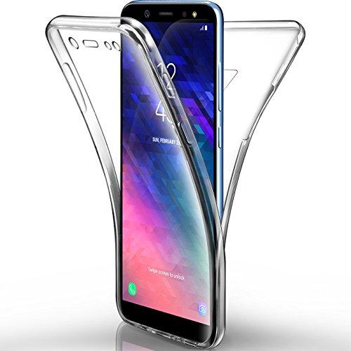 AROYI Samsung Galaxy A6 2018 Hülle, Silikon Crystal Full Schutz Cover transparent TPU Ultra dünn Case Vorne & Hinten Schutzhülle für Samsung A6 2018