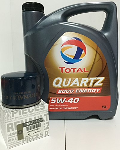 Pack Total Quartz 9000 Energy 5 W40 5 LTS + Öl Filter Orginal der Marke Renault DCI (82 00 768 927)