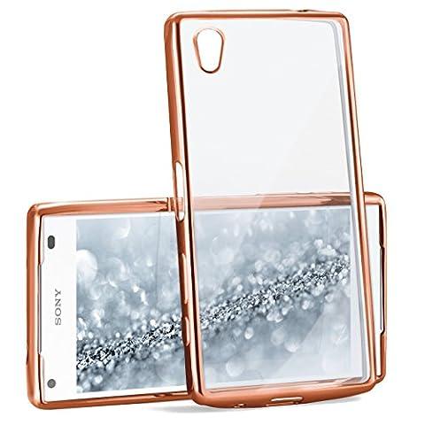 Case Chrome pour Sony Xperia Z5 Compact | Etui en silicone transparent avec effet métallique | Thin Sac de protection cellulaire OneFlow | Backcover en Rose