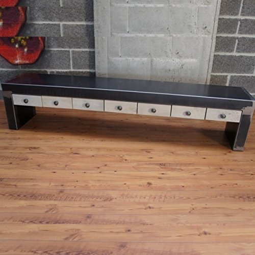 Artisan - Banc design tiroir Made in France - dimensions:35 larg x 190 lg x h 40