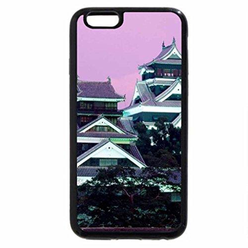 iPhone 6S / iPhone 6 Case (Black) Kumamoto Castle