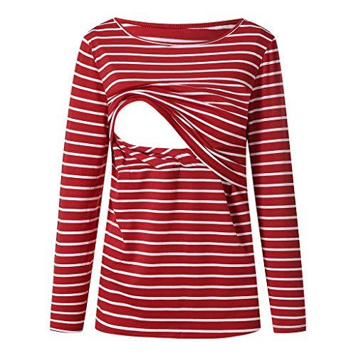 49f215d7b STRIR Camiseta De Mujeres Ropa para La Lactancia De Maternidad De Raya para  Mujeres Las Mujeres
