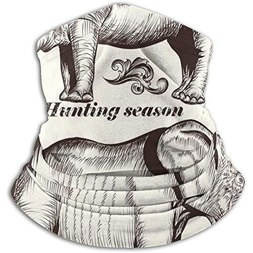 Kenice collezione scaldacollo di animali e turbinii disegnati a mano tubo per ghette per il collo,fascia per scalda orecchie e maschera facciale massima ritenzione termica,versatilità e stile