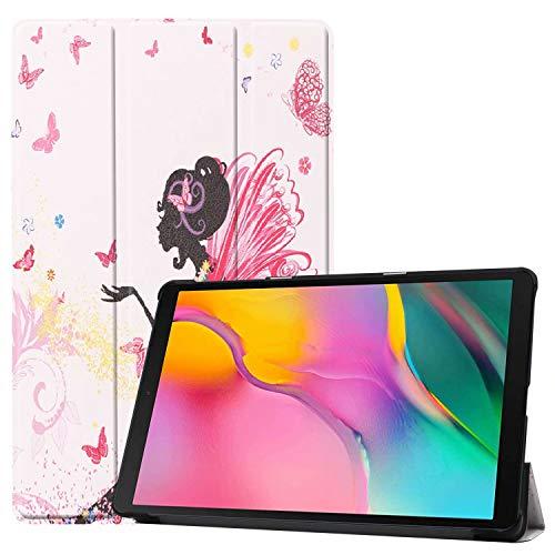 cover tablet samsung 10.1 HoYiXi Custodia per Samsung Galaxy Tab A 10.1 2019 Ultra Sottile Case in pelle Smart Cover con Supporto Funzione Custodia di Tablet per 10.1 Pollici Galaxy Tab A 2019 T510/T515 - Ragazza