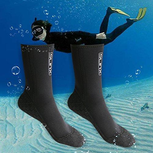 Pueri Tauchsocken Neoprensocken 3mm-Dicke Wassersport Tauchen Schwimmen Socken, Easy Fit Schuhe für Schwimmen, Schnorcheln, Segeln, Surfen (S)
