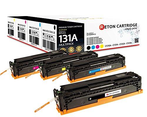4 Original Reton Toner 35% höhere Reichweite kompatibel zu HP CF210X CF210A CF211A CF212A CF213A131A für HP Laserjet Pro 200 Color M251n M251nw MFP M276n M276nw -