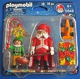 Playmobil - 5846 - Weihnachtsmann, Weihnachtself & tolles Zubehör