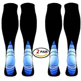 (2 pairs)Compression Socks / Stockings for Men & Women,Better Blood Circulation, Prevent Blood Clots, Speed Up Recovery BEST Graduated Athletic Fit for Running, Nurses,Medical Use,Shin Splints, Flight Travel, & Maternity Pregnancy. Boost Stamina,Circulation, Reduced Fatigue