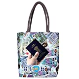 Eco Friendly, Heavy Duty and Strong Large Printed Canvas Tote Bags with Bottom