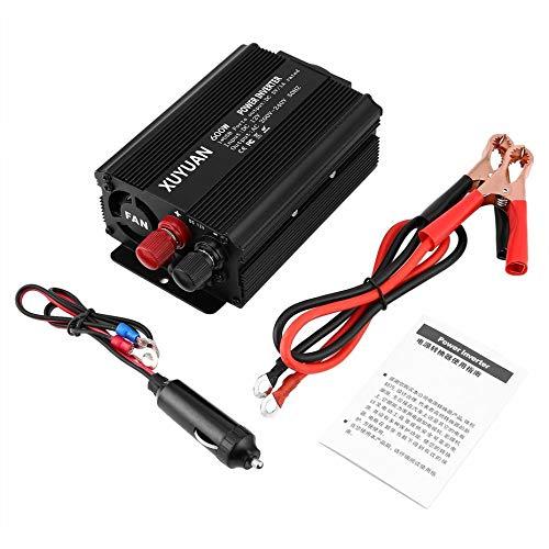 Professioneller 600W USB Power Inverter DC 12V zu AC 220V mit LED-Anzeige Car Converter für Haushaltsgeräte - schwarz - 600 600w Power Inverter