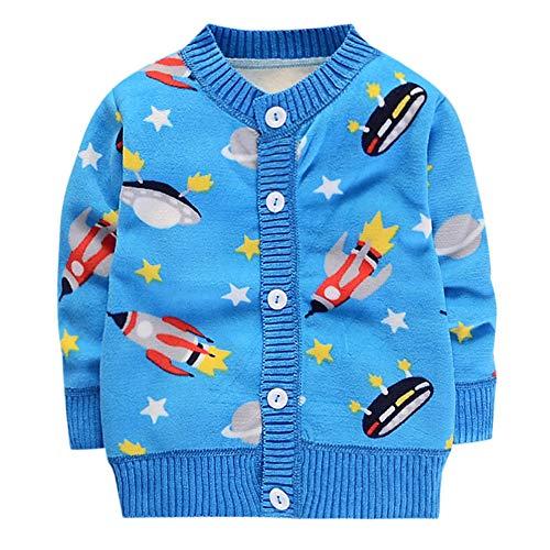 Quaan Säugling Jungen Mädchen niedlich Kleinkind Karikatur Drucken Oberteile Taste Pullover Weihnachten Gestrickt warm Outfit gemütlich weich Outwear Weste Sweatshirt Windjacke Kleiner Anzug Jacke