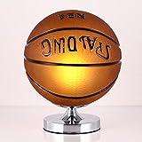 Yu chuang xin Jungen Kreative Kunst Basketball Fußball Lampen Schlafzimmer Nachttischlampe Kind Kreative Cartoon Jungen Zimmer LED Beleuchtung Auge Tischlampe Tischlampe (Farbe : Braun)
