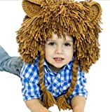 Bigood Kids Winter Animal Lion Mane Knit Ski Hat Aviator Cap Costume Accessory