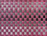 Saleen 1010115301 Gewebe-Tischset Inspiration, aubergine / grau mit Streifen