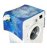 lavadora y nevera cubierta de tela de polvo con bolsa de almacenamiento de protección solar protectora de color, Azul #41