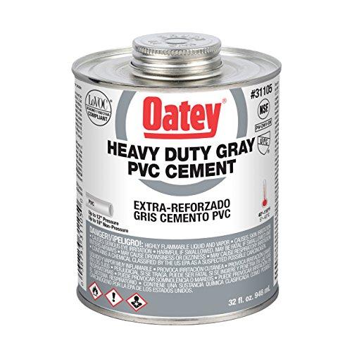 Oatey 31105 PVC Heavy Duty Cement, Gray, 32-Ounce by Oatey (English Manual)