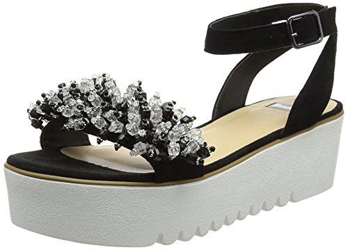 Bata 669283, sandali con plateau donna, nero, 36 eu