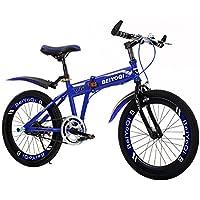 YEARLY Bicicleta plegable infantil, Bicicleta plegable estudiante Los niños de bicicleta plegable Bicicleta de montaña