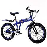 YEARLY Kinderfahrrad, Schüler klappräder Kinder der faltrad Mountainbike Jungen und mädchen Klappräder-Blau 20inch