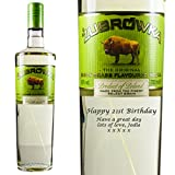 Personalised Zubrowka Vodka 70cl Engraved Gift Bottle