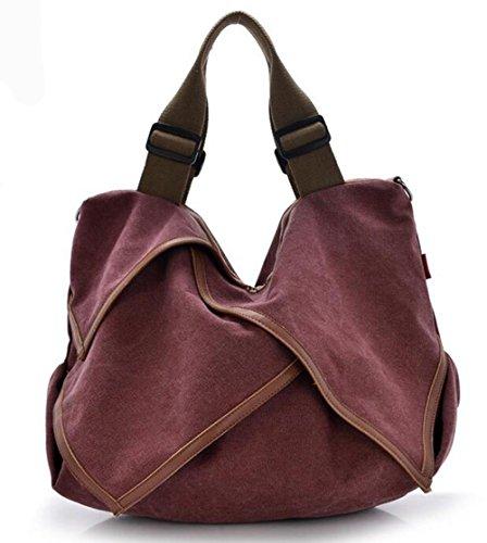 CHAOYANG-Borsa in pelle borse di tela portatile diagonale multiuso borse big bag , blue wine red
