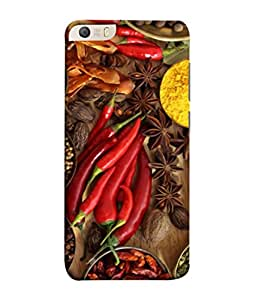 PrintVisa Designer Back Case Cover for Micromax Canvas Knight 2 E471 (Black Pepper Red Chilly Cardimum Dhania)