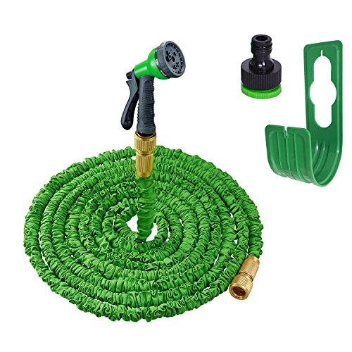 Flexibler Gartenschlauch 10m Bis 30m Dehnbarer Gartenschlauch Flexi Grün 8 Modis Handbrause Wasserschlauch Flexibel Lehom Flexschlauch Garten Autowäsche Tierewäsche (Flexi-jet)