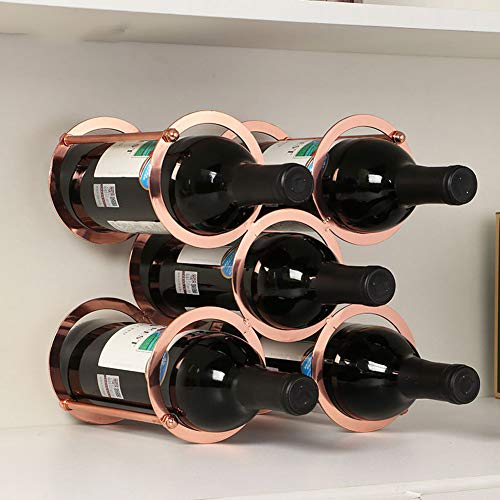 Himamk Cave à vin modulable, Étagère à Bouteille, Casier à Bouteille, Range Bouteille, Porte Bouteille 5 Bouteilles de vin 9.64inch,Brown