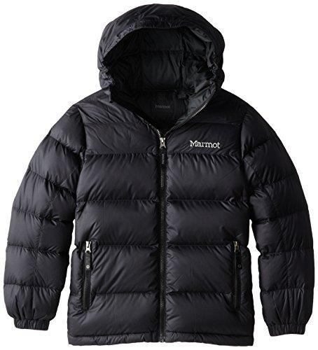 Marmot Jungen Guides Down Hoody Daunenjacke, Black, XL (Wasser-ski-schlitten)