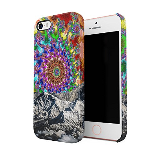 Colourful Trippy Space Swirl Mountains Custodia Posteriore Sottile In Plastica Rigida Cover Per iPhone 5 & iPhone 5s & iPhone SE Slim Fit Hard Case Cover Space Swirl