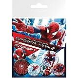 Set: Spiderman, The Amazing 2, Rise Of Electro, 4 X 25mm & 2 X 32mm Chapas Set De Chapas (15x10 cm) Y 1x Pegatina Sorpresa 1art1®