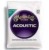 Martin Gitarrensaiten für Folkgitarren (Seide und Stahl, Stärke 0.0115 - 0.047)