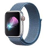 HILIMNY Für Apple Watch Armband 42MM, Nylon Armband Ersatz für iwatch Series 3, Series 2, Series 1 (Cape Cod Blau, 42MM)