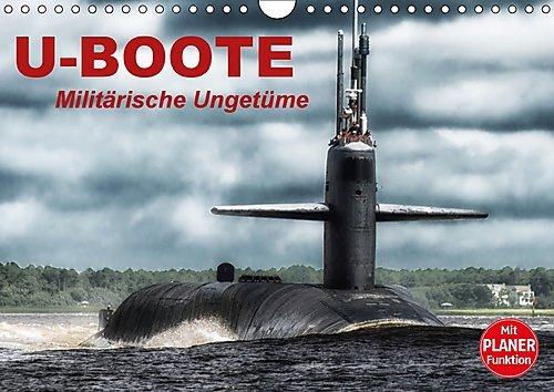 u-boote-militarische-ungetume-wandkalender-2017-din-a4-quer-militarische-kolosse-auf-tauchgang-gebur
