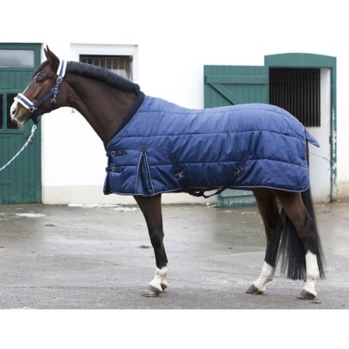 PFIFF 101672 Pferde Stall Decke Orlando, Winterdecke Pferdedecke Stalldecke, Blau 135 cm