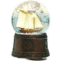 Spieluhrenwelt 25101 - Juguete de bola de nieve, diseño barco de vela