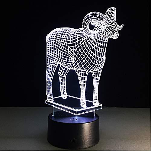 Zyyymx Acryl 3D Lampe Visuelle Led-Nachtlichter Für Kinder Fernbedienung Und Touch-Schalter Usb Tisch Lampara Neben Lampe Baby Schlaflampe