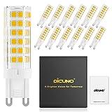 DiCUNO G9 LED Lampe 6W, Ersatz für 60W Halogen Lampen, 220-240V, Dimmbar, Warmweiß 3000K, 550 LM (12-er Pack)