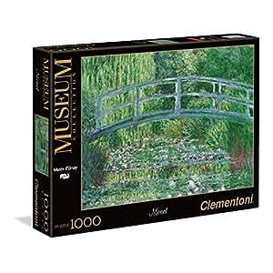 Clementoni - 39266.7 - Puzzle - Monet - Bassin aux nymphéas/harmonie verte - 1000 Pièces