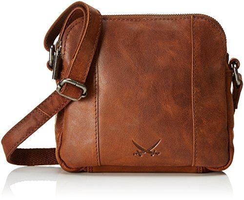 Sansibar Damen Zip Bag Umhängetasche, Braun (Cognac), 5x17x19 cm
