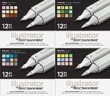 Spectrum Noir Illustrator Twin End Artist Craft Pen Set - All 4 Packs