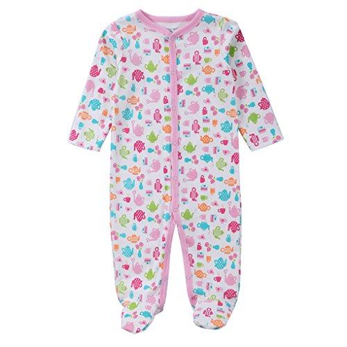 QHGstore bebé unisex pijamas Baumwollfußsack de manga larga prenda de vestir 0-3 meses