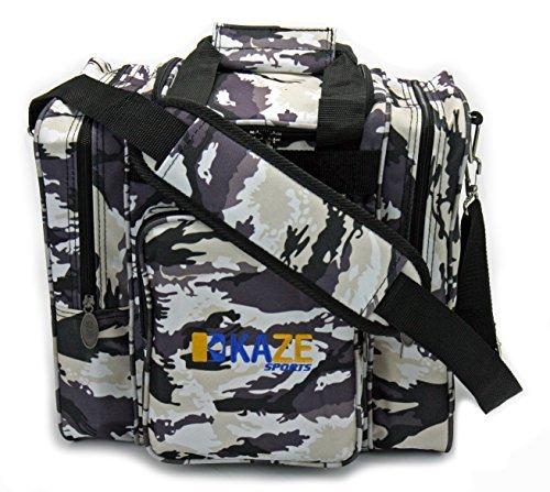 Kaze Sports Deluxe 1Ball Bowling Tasche mit zwei Seitentaschen, unisex, White Camo