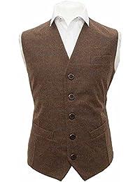King & Priory - Gilet - Homme marron Cedar Brown