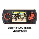 CZT 7,6cm Retro Game Handheld Player Spiel Konsole integrierte 1100Sega Spiele Video Game Konsole Support-AV-Kabel, für Sega Orange