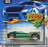 Hot Wheels 2002-053 First Editions 41/42 Green Ballistik Race/Win Card 1:64 Scale Die Cast Collectible Car
